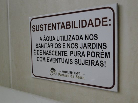 Hotel Recanto Paraíso da Serra: Sustentabilidade, o que não pode faltar nos dias de hoje