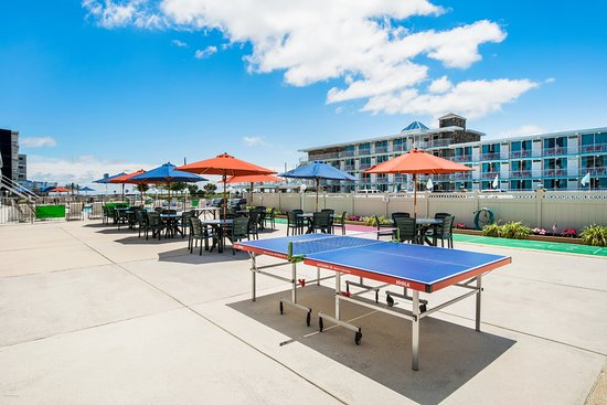 V.I.P. Family Motel: Patio Area/ Gas Grills/ Shuffle Board/ Ping Pong