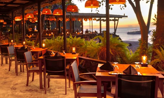 Anse Chastanet: Apsara an East Indian Caribbean fusion restaurant at the Trou Au Diable beach restaurant