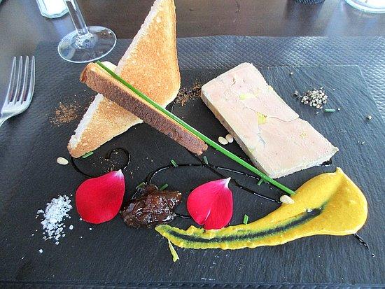 Penne, France: foie gras mi-cuit !