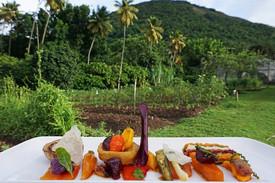 Anse Chastanet: Our Emerald's vegetarian cuisine sources fresh ingredients from our very own Emerald Estate Farm