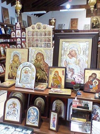 Kykkos Monastery (Panagia tou Kykkou): Лавка икон при монастыре Киккос. Очень редкие иконы можно купить и дорогие