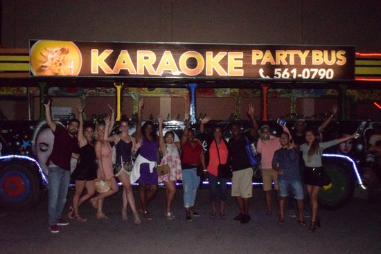 Karaoke Party Bus Aruba : A Private Group having fun!