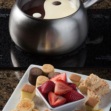 The Melting Pot - Albuquerque: Yin Yang Chocolate Fondue for the win :)