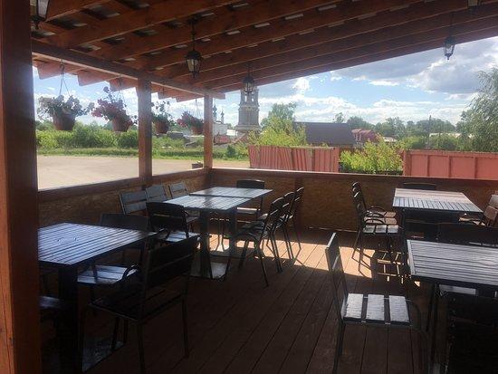 Evraziya Cafe: Вид с летней террасы