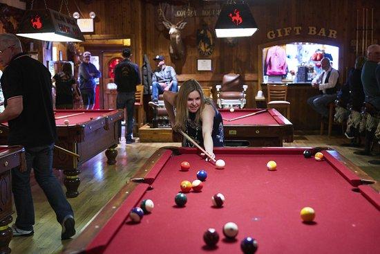 Million Dollar Cowboy Bar: 4 Pool Tables. David Agnello Photo