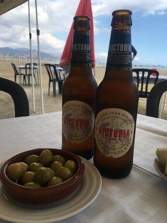 Restaurante Chiringuito Vicen Playa : Cerveza Malagueña Victoria