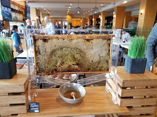 H2 Rotisserie & Bar: A beautiful to display and serve honey!