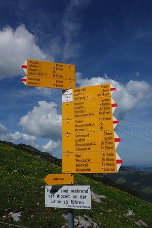 Aescher, Berggasthaus: angrenzende Wanderwege