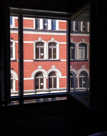 Freys Hotel Lilla Radmannen: Vue depuis notre chambre.