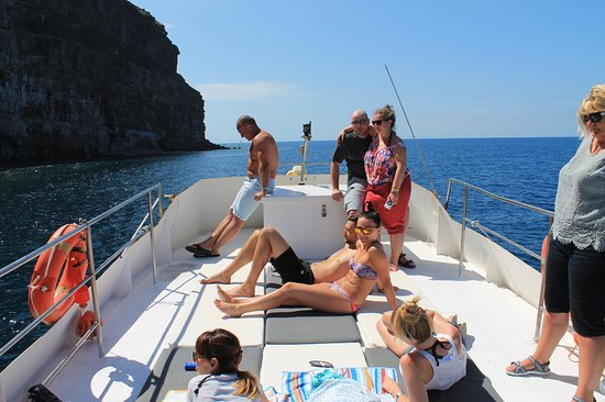 Yellow Boat Mogan Boat & Snorkel Excursions: Sunbathing