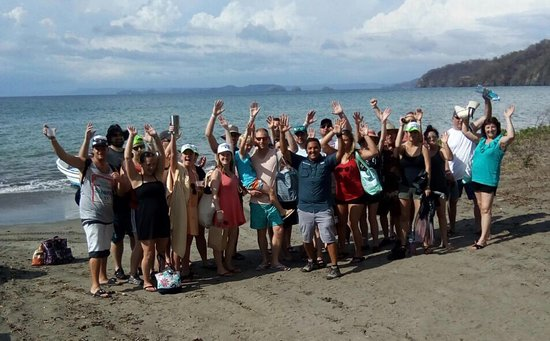 Prime Tours Costa Rica: Wedding group getting ready for boat excursion.