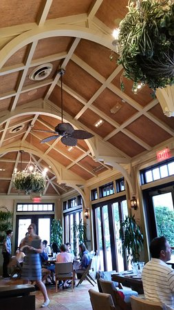 Tommy Bahama's Restaurant & Bar: Seating Area like green house..comfortable