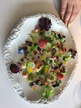 Martin Berasategui: salade aux légumes
