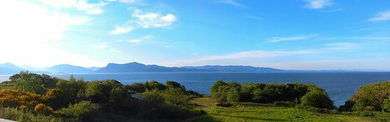 Ardvasar, UK: Spring view from the house over the Sound of Sleat