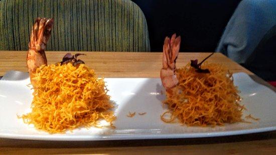 Waipo: Crevettes et vermicelles de patates douces