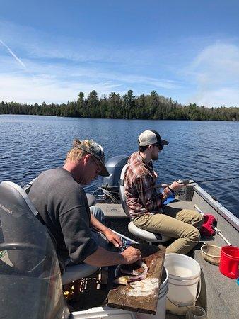 Joe's Inland Fishing: Joe - cleaning our catch