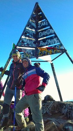 Toubkal Guide: At the top with Hassan