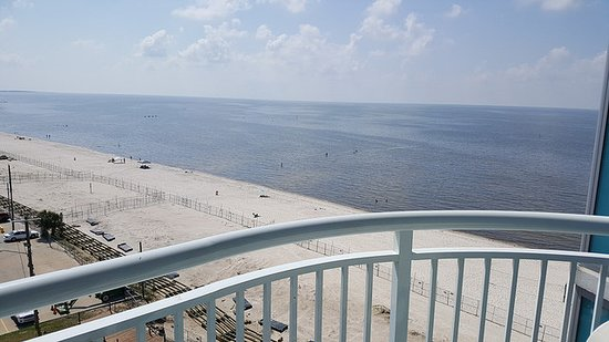 "South Beach Biloxi Hotel & Suites : View from our ""partial view"" room."