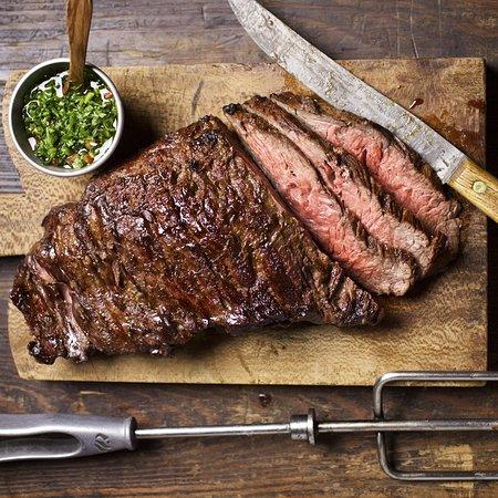 Fogo de Chão Brazilian Steakhouse: Fraldinha, Bottom Sirloin: flavorful steak with strong marbling