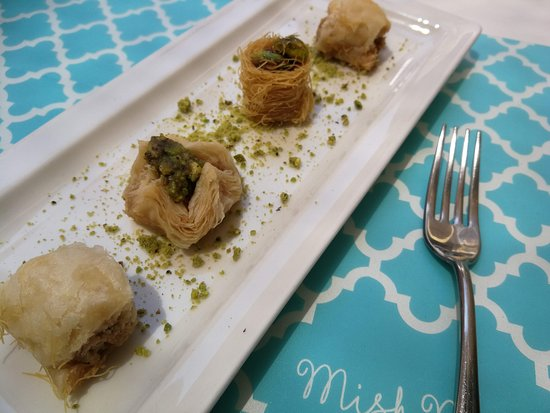 """Mish Mish : Assortment of baklava! My favorite was the """"hairy"""" one."""