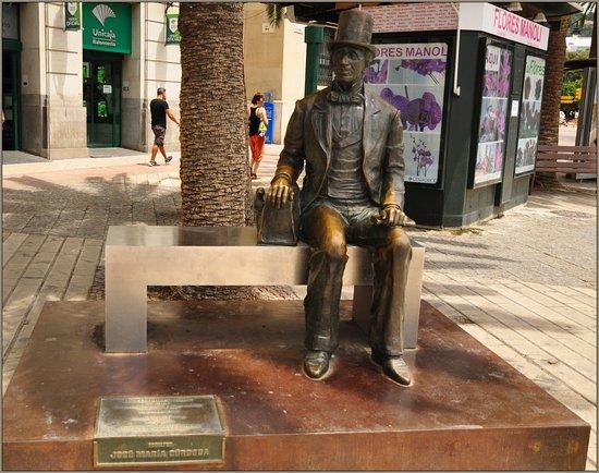 Estatua de Hans Christian Andersen: Andersen w Maladze