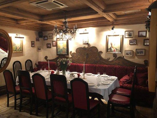 Restauracja Czerwony Wieprz: Old style meeting room setting