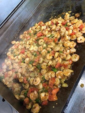 Koftaky Grill: grilled shrimp