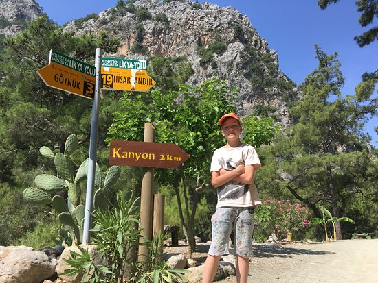 Goynuk Canyon: Начало пути, указатель около касс