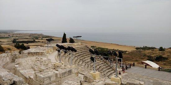 Walking inside Kourion archeological site.