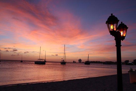 Sunset from Barefoot Restaurant
