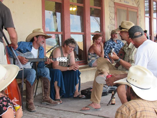 These locals jamming by the Starlight Theatre on Sunday afternoon.