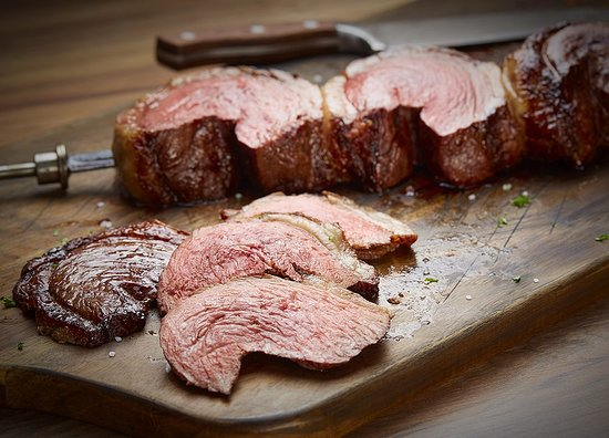 Fogo de Chão Brazilian Steakhouse: Picanha: Prime part of the Top Sirloin. Lightly seasoned with rock salt & sliced thin