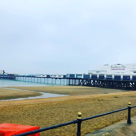 Sandown Pier: The pier from the seafront