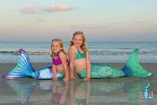 Mermaid of Hilton Head: Sisters enjoying a mermaid photoshoot on Hilton Head Island