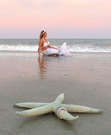 Mermaid of Hilton Head: Bride to be as a mermaid on Hilton Head Island