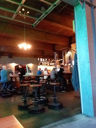 Fort George Brewery + Public House: Area around and at the bar