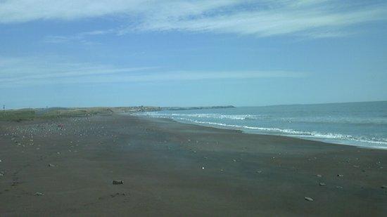 North Pacific Ocean Seaside Line: 少し道路から海に出た景色