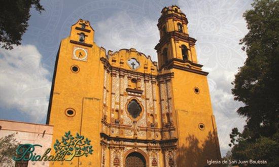 BioHotel: Iglesia y Ex-convento San Juan Bautista: La iglesia más tradicional de este Pueblo Mágico.