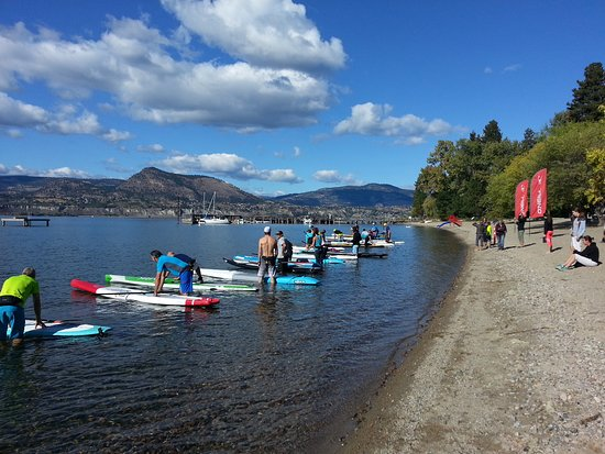 Sun n' Sup: Racers ready at one of our past Naramata Paddle Regatta's