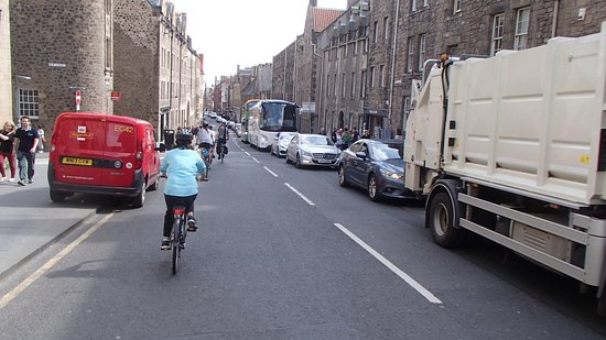 Edinburgh Bike Tours: City biking (only hard thing was remembering to stay on the LEFT)