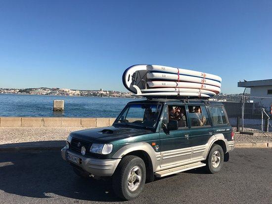 Costa da Caparica, Portugal: Our Jeep pick up