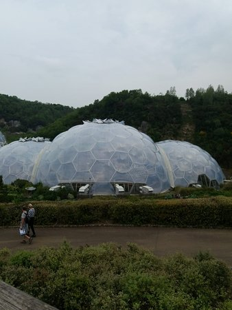 Eden Project: Approaching the Domes.