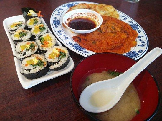 Kimbap Korean Pancake Miso Soup Picture Of Seoul Kitchen