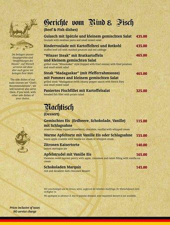 Das Bierfass - The Beer Barrel: Our Food Menu page 4