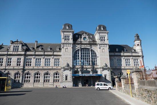 Circuit de Spa-Francorchamps : Verviers train and bus station, front entrance