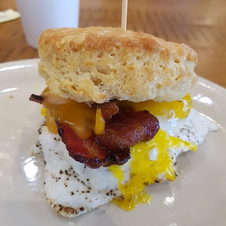 Maple Street Biscuit Company- Concord: $9 bacon, egg, cheese biscuit