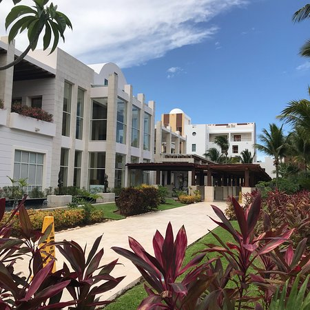 Excellence Playa Mujeres : Pictures of the grounds, beach. Main lobby, entertainment, treats in the room at night and spa l