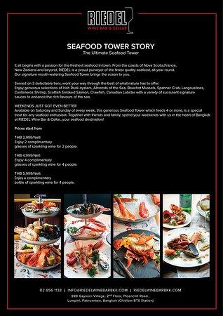 Seafood Tower On Weekend Picture Of Riedel Wine Bar Cellar Bangkok Tripadvisor