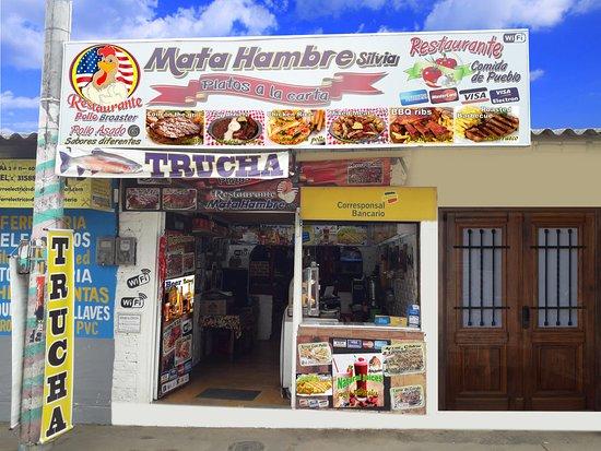 Restaurante Mata Hambre Silvia: Restaurante en Silvia Cauca - Acepta pagos con tarjeta debito y credito - WIFI - Platos tipicos